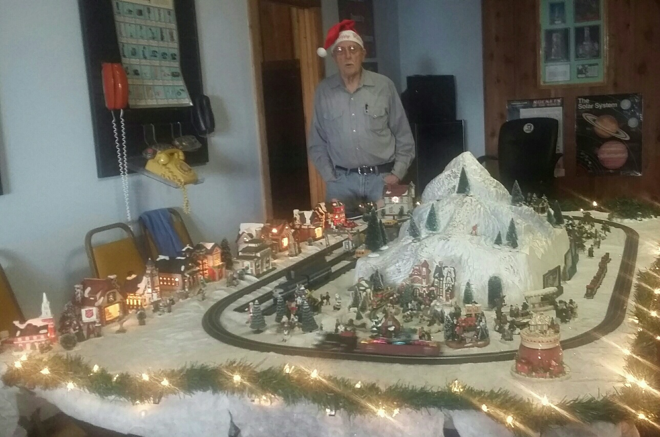 Train display at Christmas